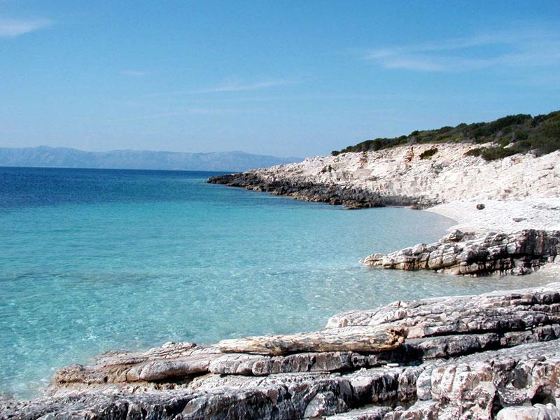 island of proizd near vela luka korcula island croatia